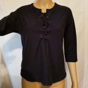 Madewell tie front Top Size XXS